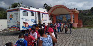 Personal médico del Centro de Salud Tipo B del Patronato Provincial visitó el cantón Guano.